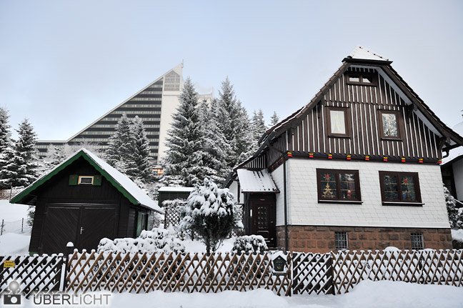 Panoramafreiheit Privathaus fotografieren erlaubt Oberhof Winter Nikon D700