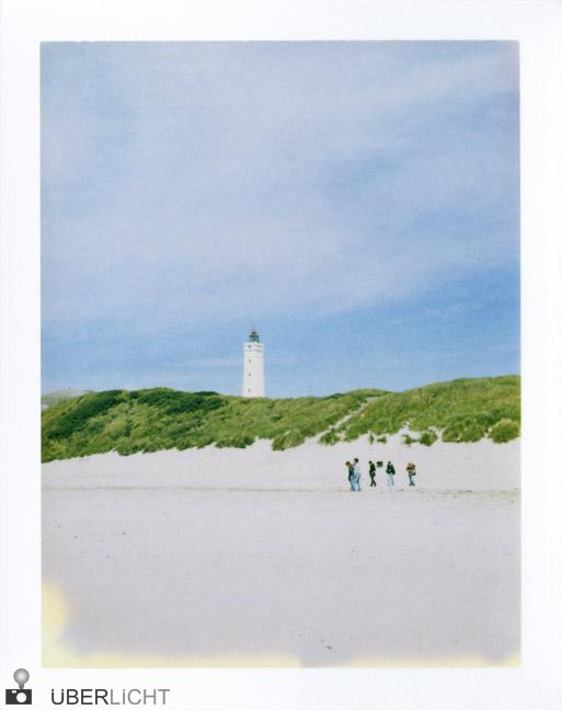 Leuchtturm am Strand Polaroid 600 SE Typ 100