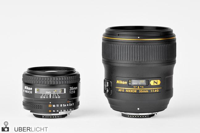 Nikon Nikkor 35 2 35 1,4 Vergleich Test