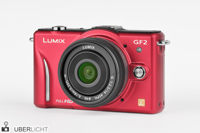 Panasonic Lumix GF2 Pancake 14 2,5 rot red