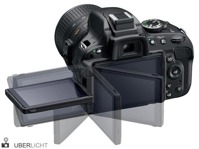 Nikon D5100 Schwenk-Display Rueckseite