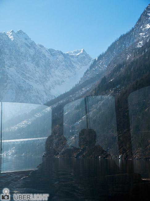 Panasonic Lumix GF2 14-42 Koenigssee Boot Alpen Silhouette Berge Paar