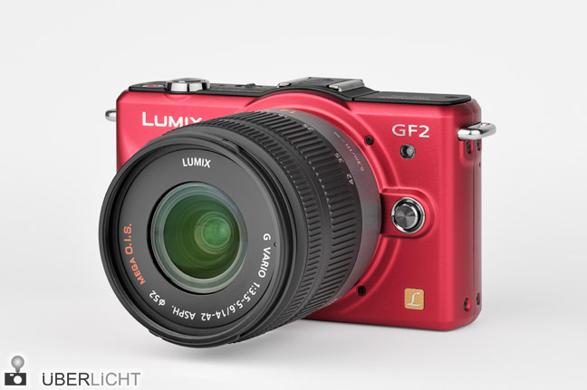 Panasonic Lumix GF2 rot red Kit Objektiv 14-42