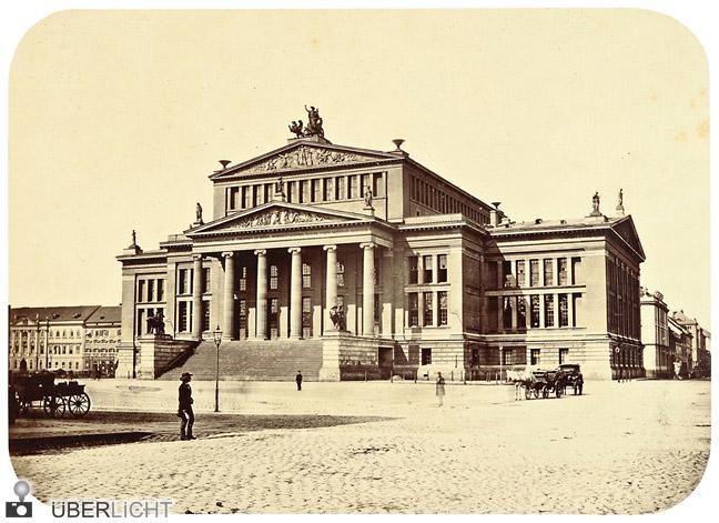 Leopold Ahrendts Berlin Gendarmenmarkt Schauspielhaus 1856 Ausstellung Galerie Berinson