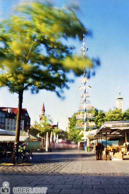 Lochkamera Viktualienmarkt München Schwarzschildeffekt Camera Obscura
