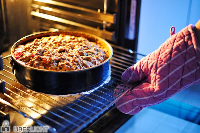 Nikon AF-S Nikkor 50 1,8 G Kuchen Ofen Handschuh warm