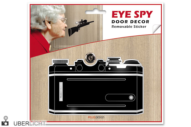 Eye Spy Camera Sticker Tuerspion Aufkleber Kamera Monkey Business
