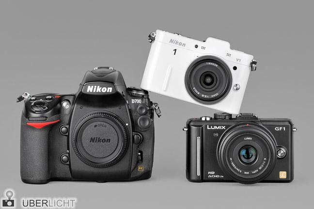 Nikon 1 V1, D700 und Panasonic Lumix GF1 Vergleich