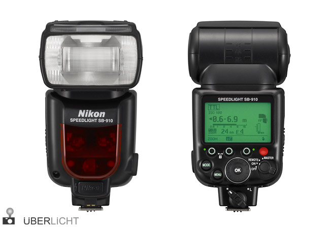 Nikon Speedlight SB-910 Blitz front back