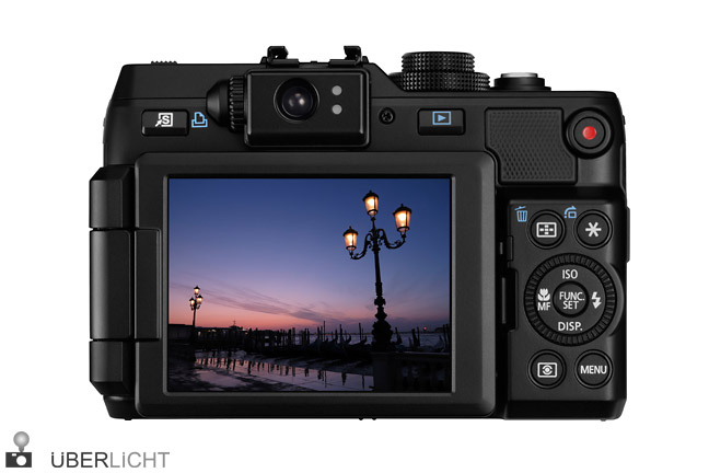 Canon Powershot G1 X Rueckseite mit Schwenkdisplay