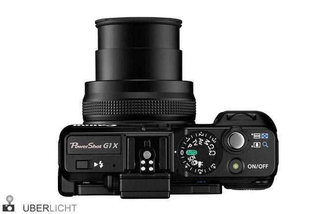 Canon Powershot G1 X Oberseite Objektiv ausgefahren