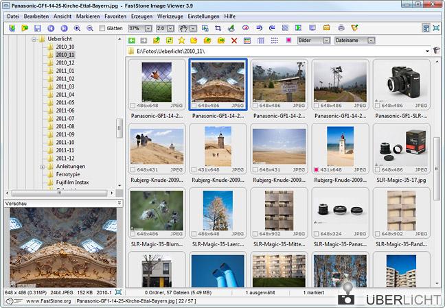 Fotos betrachten und verwalten mit dem FastStone Image Viewer
