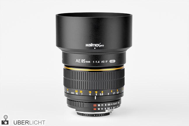 Test Walimex pro AE 85 mm-Objektiv für Nikon mit Gegenlichtblende