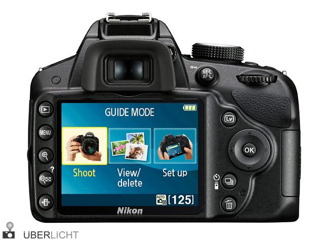 Nikon D3200 Display auf der Rückseite