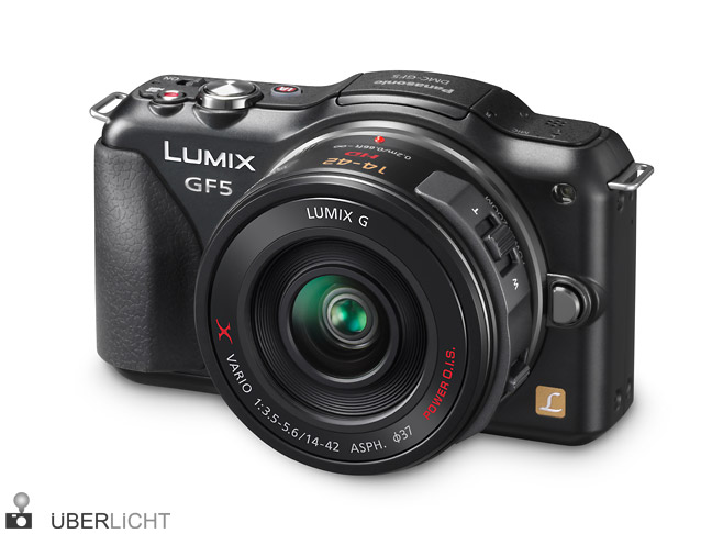 Panasonic Lumix GF5 14-42 x power zoom vorderseite front