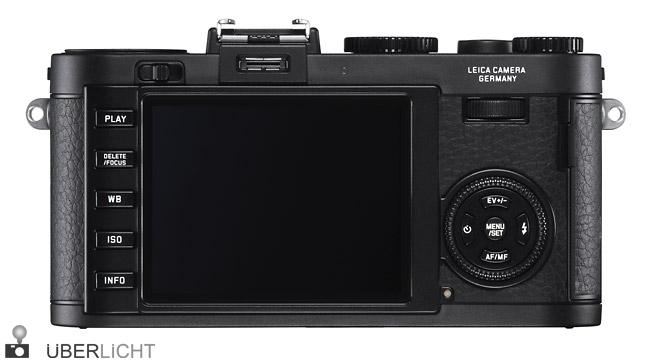 Leica X2 schwarz Rueckseite