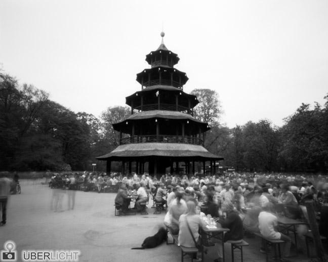 Harman Titan Camera Obscura Pinhole Chinesischer Turm München Englischer Garten 4x5 Lochkamera