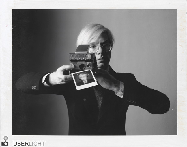 "Polaroid Collection Oliviero Toscani ""Andy Warhol with camera"" 1974"