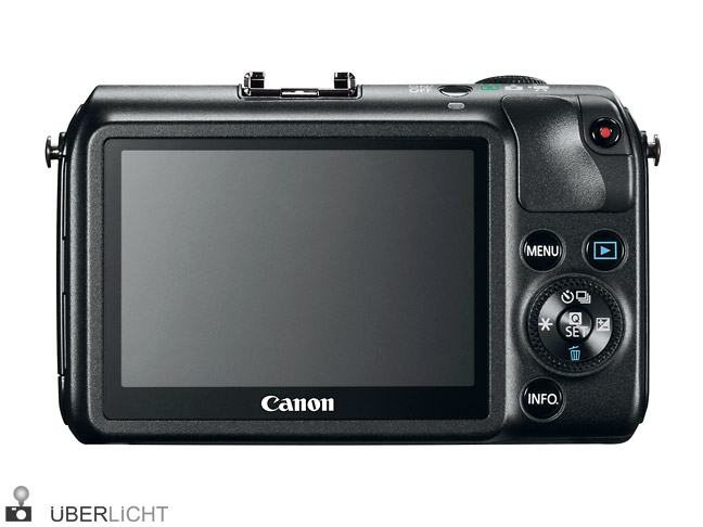 Canon EOS M Rueckseite mit Touchscreen