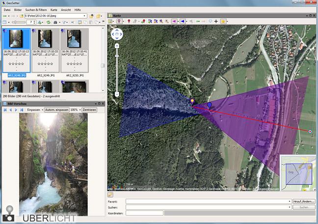 GeoSetter GPS-Anzeige für Solmeta oder Dawntech an Nikon