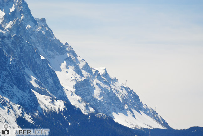 Nikon 1 V1 30-110 mm VR Nikkor Schnee Berge Zugspitze Seilbahn