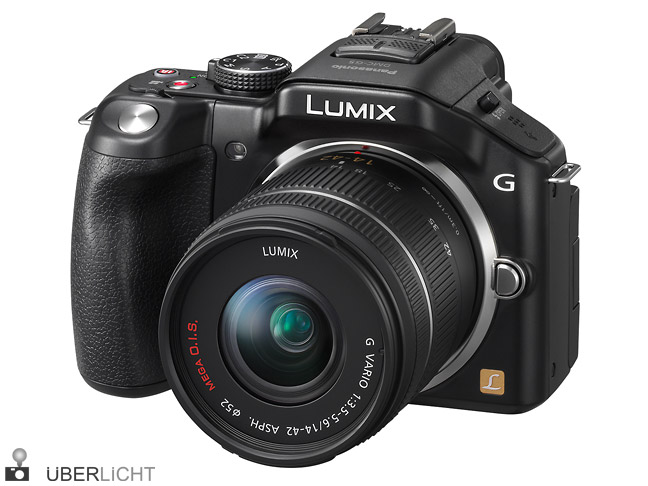 Panasonic Lumix G5 mit Kit-Zoom 14-42 in schwarz