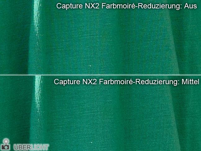 Moires Nikon D800E in Capture NX2 entfernen reduzieren
