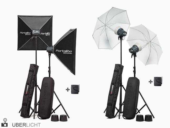 Elinchrom D-Lite RX ONE To Go Set mit Schirm oder Softbox
