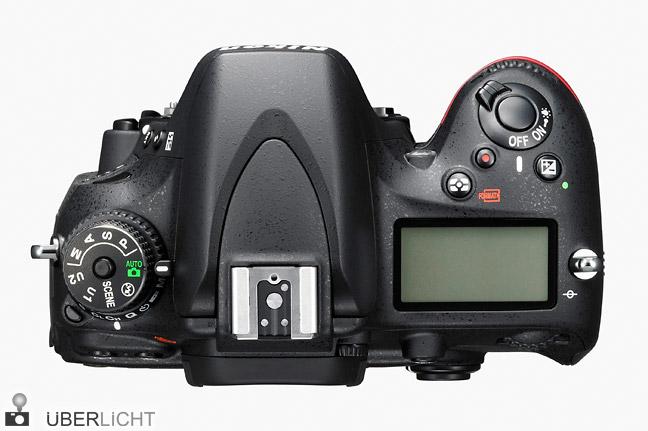 Nikon D600 Oberseite mit Modi-Wahlrad