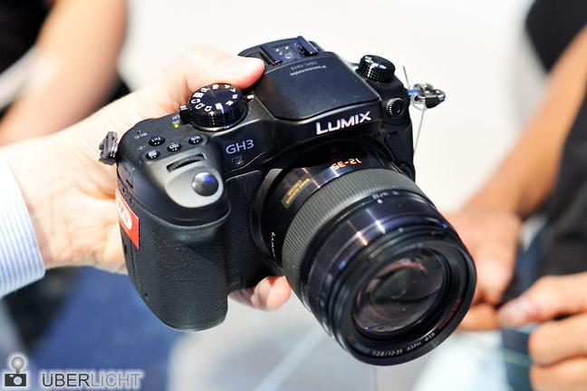 Panasonic Lumix GH3 mit 12-35 auf der Photokina