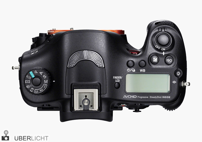 Sony Alpha SLT-A99 Vollformat-Kamera Oberseite