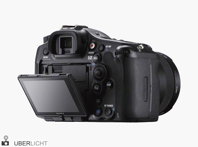 Sony Alpha SLT-A99 Rueckseite mit Schwenk-Display