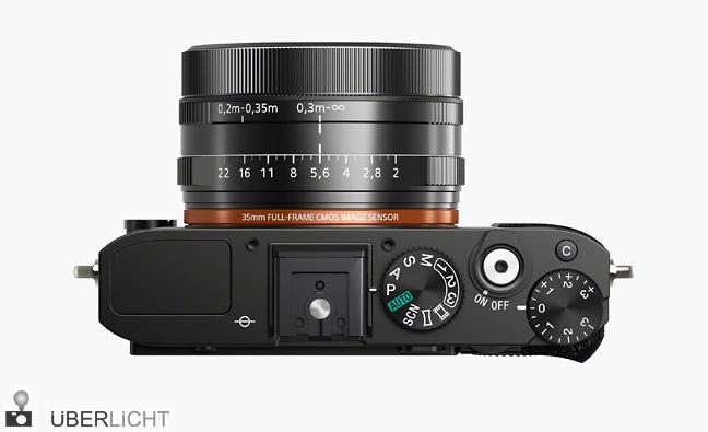 Sony RX1 Vollformatkamera Oberseite und Objektiv