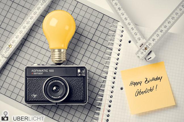 Ueberlicht feiert zweiten Geburtstag Kamera von Agfa und Gluehbirne