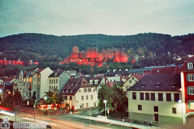 Adox Color Implosion Olympus Mju II Heidelberg Stadtansicht Schloss