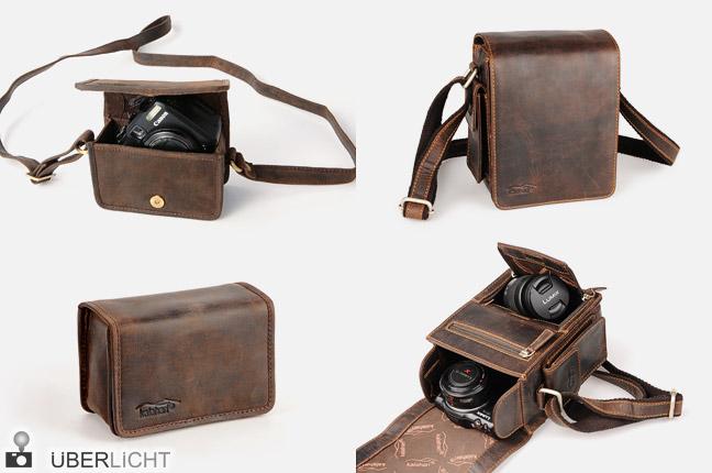 Kalahari Kaama Kamerataschen aus Büffelleder