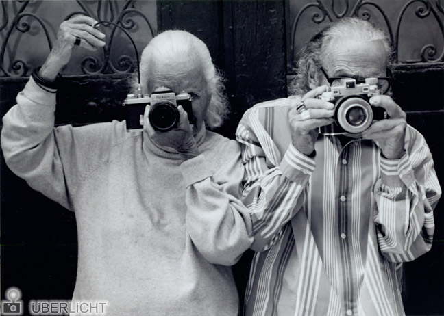 Lillian Bassman und Paul Himmel in New York 2003 fotografiert von Karin Kohlberg