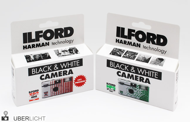 Ilford Harman Einwegkamera mit XP2 und HP5 disposable camera