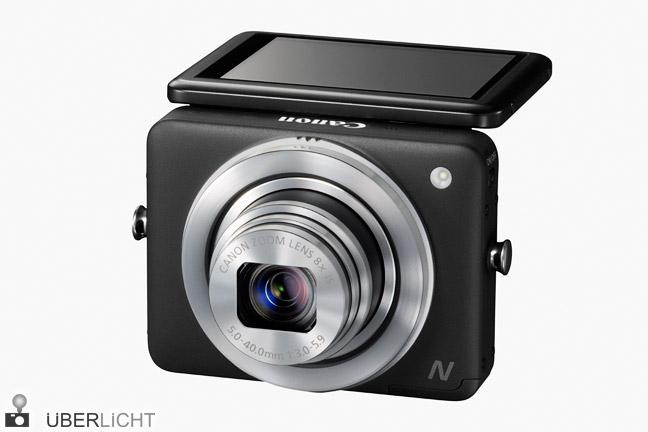 Canon PowerShot N Schwarz mit klappbarem Touch-Display