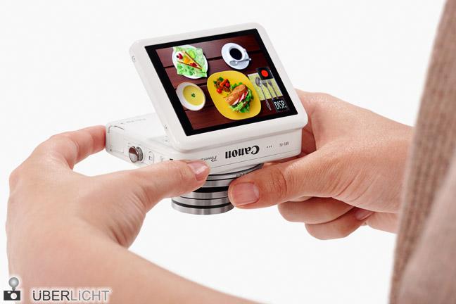 Canon PowerShot N Kamera mit Touch-Display