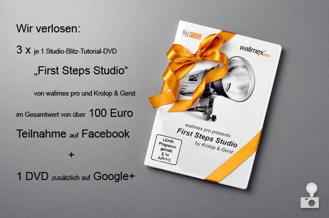 """Gewinnspiel DVD walimex pro """"First-Steps Studio"""" Tutorial Verlosung"""