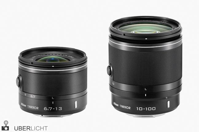 1 Nikkor VR 6,7-13 mm und VR 10-100 mm Objektive für Nikon 1