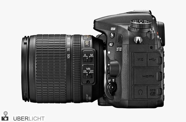 Nikon D7100 mit Objektiv 18-105 mm, DX-Sensor, USB Anschluss