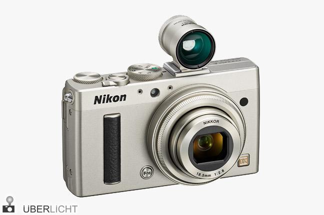Nikon Coolpix A in Titan Silber mit Sucher 28 mm