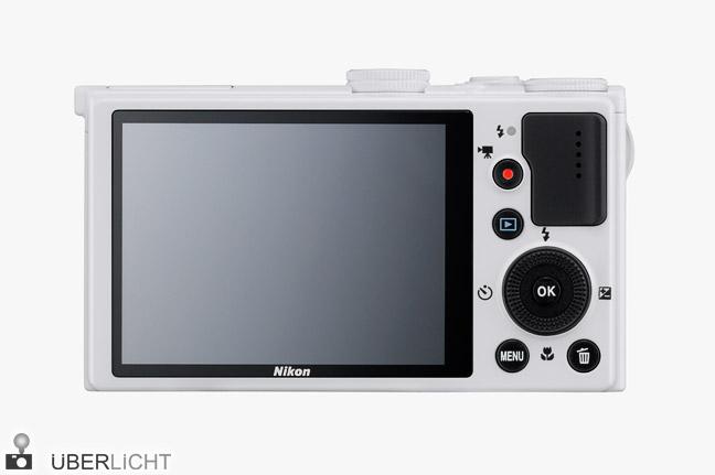 Nikon Coolpix P330 LCD-Display Lichtstärke 1:1,8