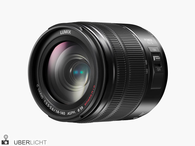 Panasonic G Vario 14-140mm / 3,5-5,6 ASPH. Power O.I.S. Superzoom mit optischem Bildstabilisator