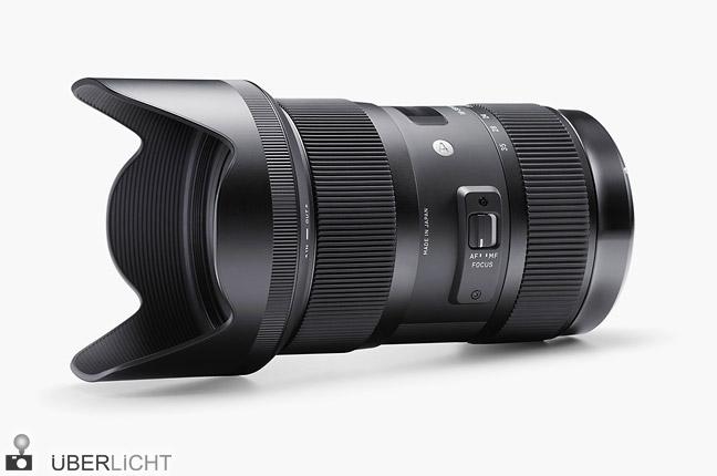 Sigma 18-35 mm F1,8 DC HSM lichtstarkes Zoomobjektiv mit Sonnenblende