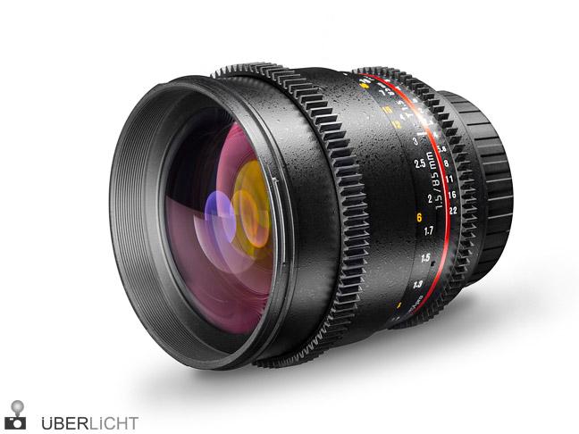 Objektiv walimex pro 85 1,5 VDSLR mit Adapter für Systemkameras