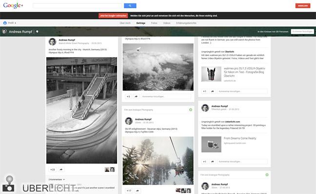 Das Google+ Profil von Andreas Rumpf, Fotograf