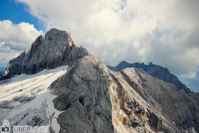 Dachsteingletscher in den Alpen, Schnee am Berg